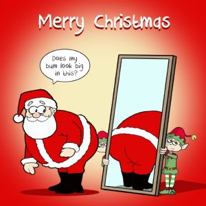 CANX34 – Happy Christmas Card Big Bum